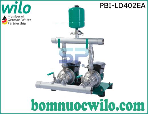 Cụm 2 bơm tăng áp tích hợp biến tần chịu nhiệt  Wilo PBI- LD402EA
